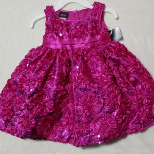 NWT! Holiday Editions Sequin Sparkle flower dress!